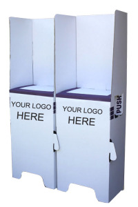 cardboard voting Booth with logo